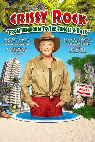 crissy rock, comedienne, book a comedienne, I'm a Celebrity, comedian from the jungle, comedienne from the jungle, Benidorm comedienne, benidorm, stand up, female comedian, Opportunity Knocks,